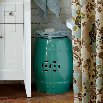 Glazed Ceramic Garden Stool Finish: Light Blue