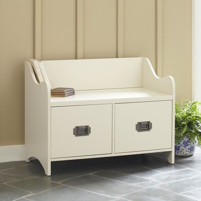 Edwards 2-Drawer Storage Bench Color: Off White