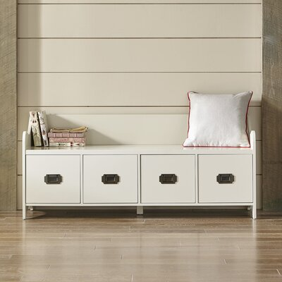 Edwards 4-Drawer Storage Bench Color: Cream
