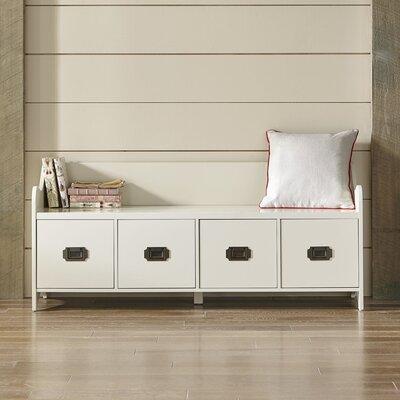 Edwards 4-Drawer Storage Bench Color: Cream