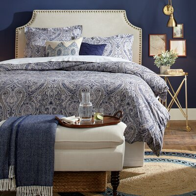 Greenough Upholstered Bench Fabric: Marlow Vanilla