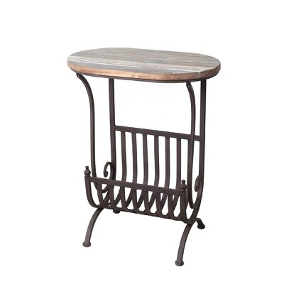 Sackville Side Table with Magazine Rack