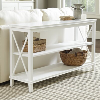 Larksmill Console Table Color: White