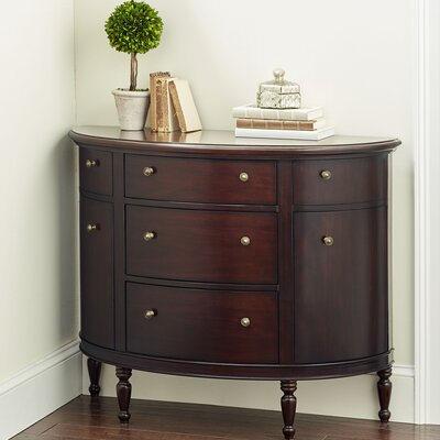 Cantor Demilune Accent Chest Color: Mahogany