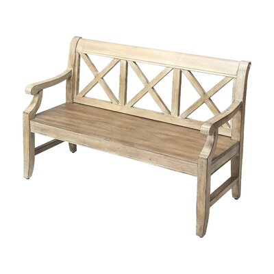 Sinsbury Wood Hallway Bench Color: Driftwood