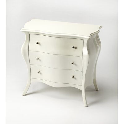 Saldana Chest Color: Glossy White
