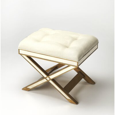 Bradford Vanity Stool Finish: Mirror & Gold