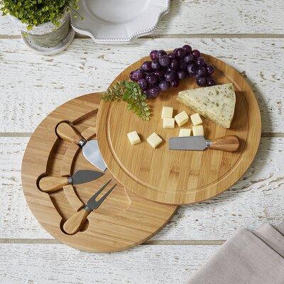 5-Piece Swiveling Cheese Board & Knife Set