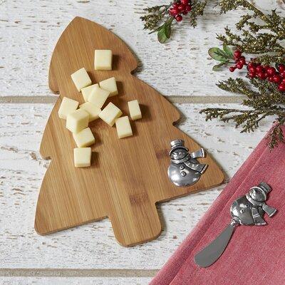 Snowman Tree Cutting Board & Spreader Set