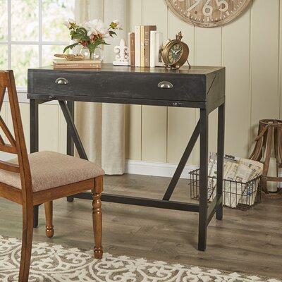 Somerton Hinged Hideaway Desk Color: Black