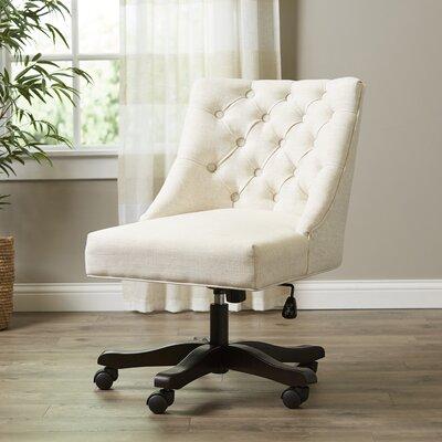 Soho Swivel Desk Chair Color: Beige