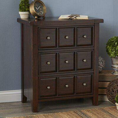 Nathaniel Accent Chest Color: Rustic Mahogany