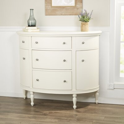 Cantor Demilune Accent Chest Color: White