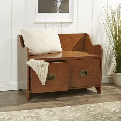 Edwards 2-Drawer Storage Bench Color: Maple