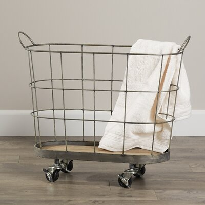 Laskey Rolling Laundry Metal Basket