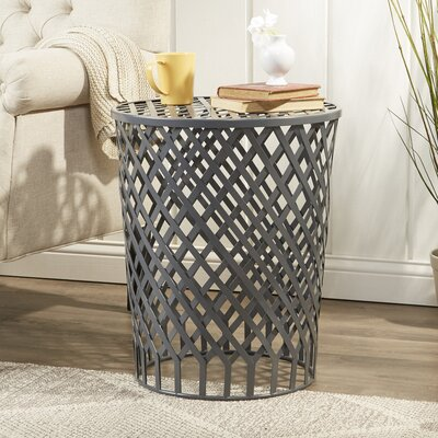 Cannock Iron Lattice Garden Stool Color: Grey