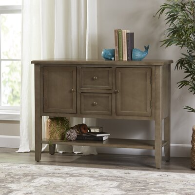 Christopherson Console Table Color: Gray