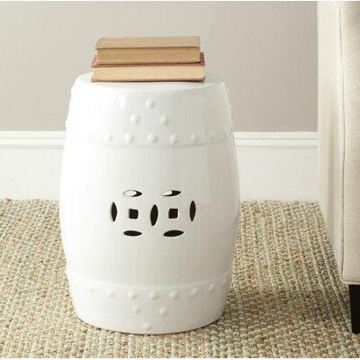 Glazed Ceramic Garden Stool Finish: White