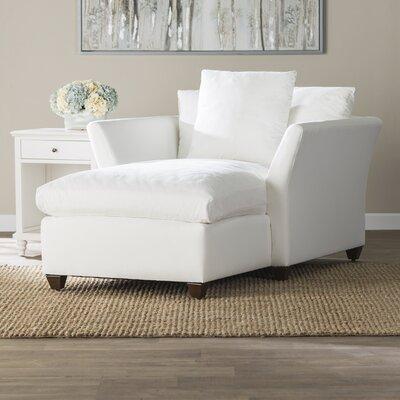 Wollaton Chaise Lounge Upholstery: Ronan Linen
