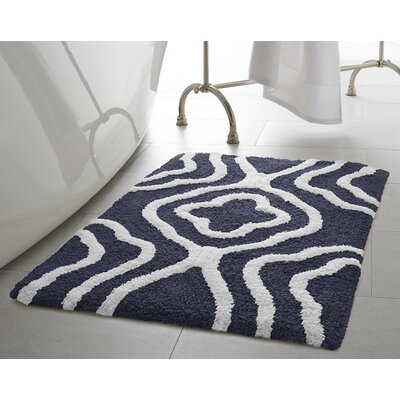 Maureen Bath Mat Color: Navy