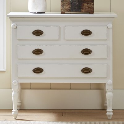 Griffith 4 Drawer Accent Chest Color: White