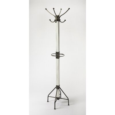 Logan Coat Rack Color: White