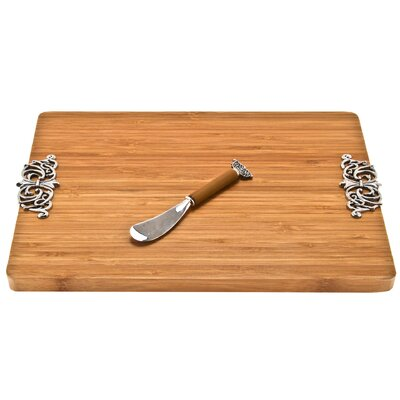 Thirstystone Scroll Cheese Board with Spreader