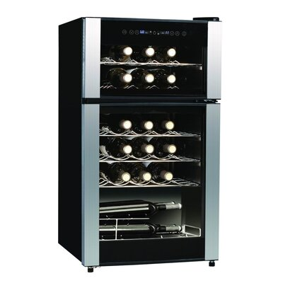 29 Bottle Dual Zone Freestanding Wine Cooler
