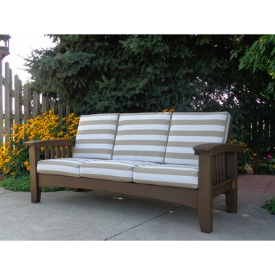 Days End Deep Seating Sofa with Cushion Finish: Charcoal, Color: Spectrum Cilantro