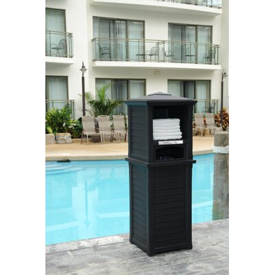 Lakeland 24 Gallon Plastic Towel Valet Color: Black