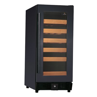 25 Bottle Single Zone Convertible Wine Cooler Finish: Black