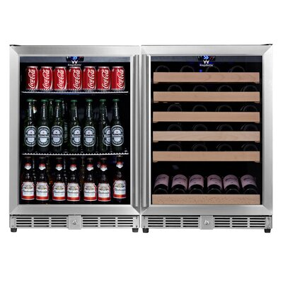 46 Bottle Dual Zone Built-In Wine Cooler