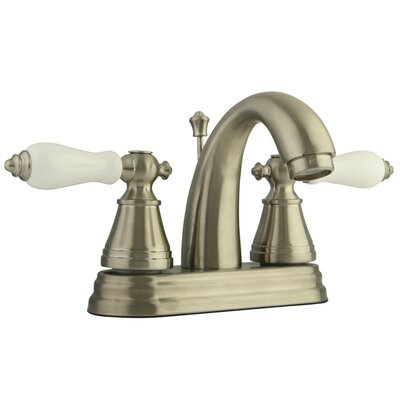 English Classic Centerset Bathroom Faucet with Pop-Up Drain Finish: Brushed Nickel