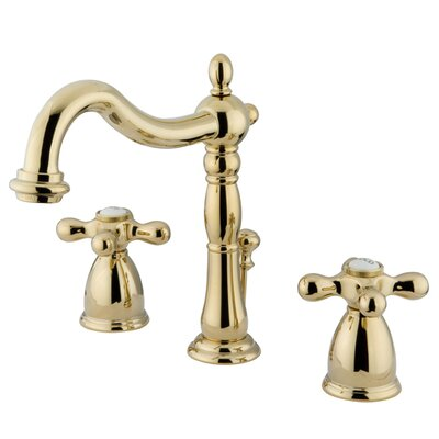 Heritage Widespread Bathroom Faucet with Drain Assembly Finish: Polished Brass
