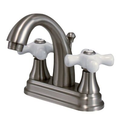 English Vintage Centerset Bathroom Faucet with Pop-Up Drain Finish: Brushed Nickel