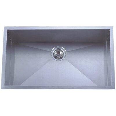 "Towne Square 30"" L x 18"" W Undermount 18 Gauge Single Bowl Kitchen Sink"