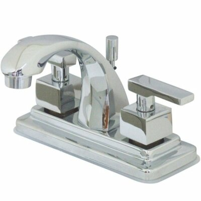 Executive Centerset Bathroom Faucet with Pop-Up Drain