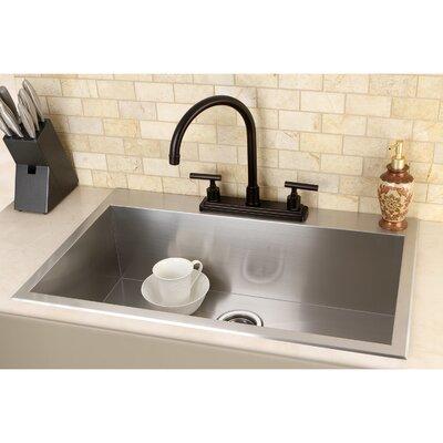 "Uptowne 31.5"" L x 20.5"" W Self-Rimming Single Bowl Kitchen Sink"