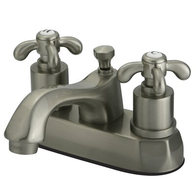 French Country Centerset Bathroom Faucet with Pop-Up Drain Finish: Brushed Nickel