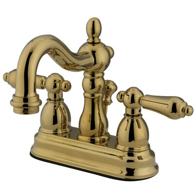 Heritage Centerset Bathroom Faucet with ABS Pop-Up Drain Finish: Polished Brass