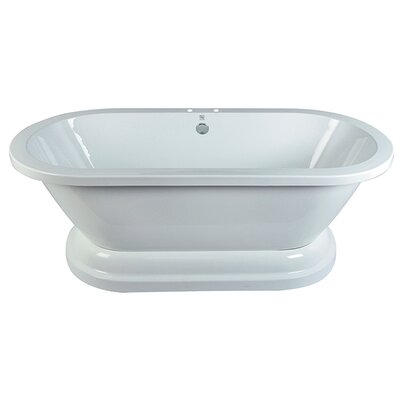 "Aqua Eden 67"" x 31.5"" Pedestal Double Bathtub"