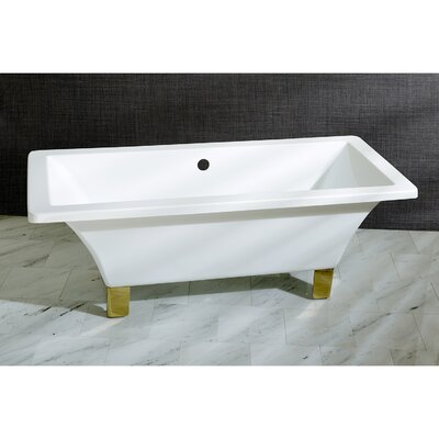 "Aqua Eden 71"" x 32"" Freestanding Soaking Bathtub Color: Polished Brass"