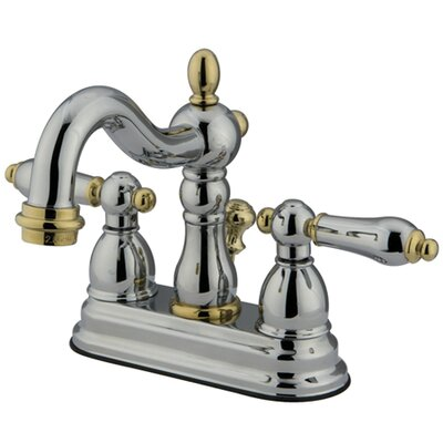 Heritage Centerset Bathroom Faucet with ABS Pop-Up Drain Finish: Polished Chrome/Polished Brass