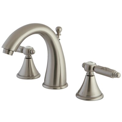 Georgian Widespread Bathroom Faucet with Brass Pop-Up Drain Finish: Brushed Nickel