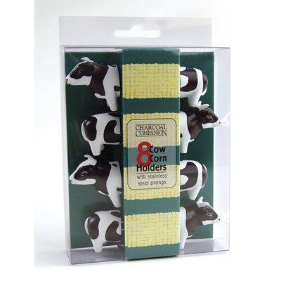 Charcoal Companion 4-Piece Cow Corn Holder Set