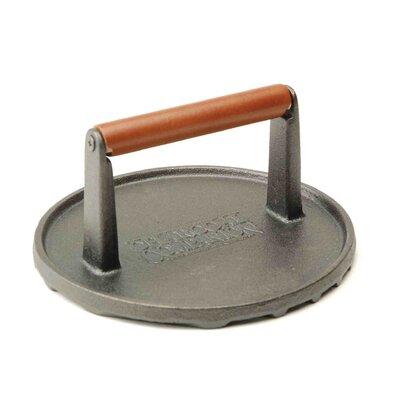 Charcoal Companion Cast Iron Round Barbecue Press