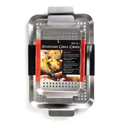 Charcoal Companion 2 Piece Stainless barbecuing Grid Set