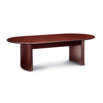 "Global Racetrack/Oval 29""H x 48""W x 120""L Conference Table Finish: Quartered Mahogany"