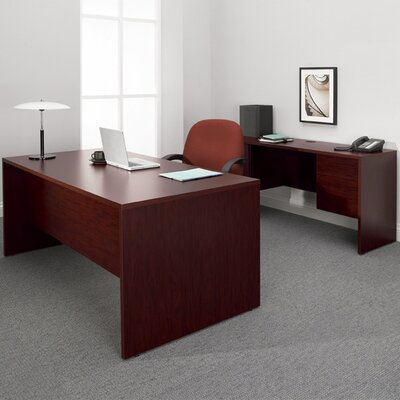 Global Total Office Genoa Executive Desk with Knee Space