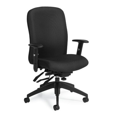 TRUFORM Desk Chair Weight Capacity: Standard, Upholstery: Ebony